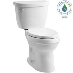 Kohler Cimarron Comfort Height The Complete Solution 2 Piece 1 28 Gpf Single Flush Elongated Toilet In White Seat Included K 11451 0 The Home Depot Kohler Cimarron Cimarron Kohler