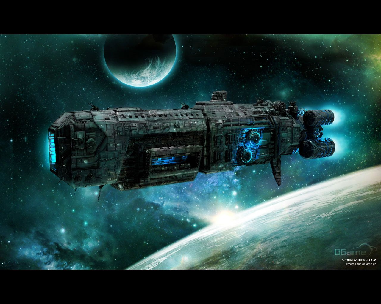 Black themed spaceship conceptual artwork and wallpapers 1 design - 35 Awesome Sci Fi Spaceship Conceptual Artwork In Hd