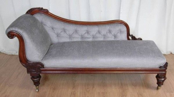 Antique Chaise Longue Regency Mahogany Daybed New Home