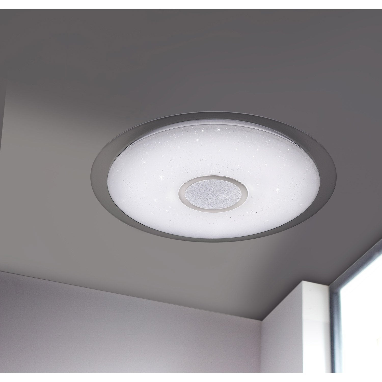 Plafonnier Design Led Integree Kiana D 56cm Polycarbonate Blanc 1 X 34 W Wofi Plafonnier Design Plafonnier Et Plafonnier Classique