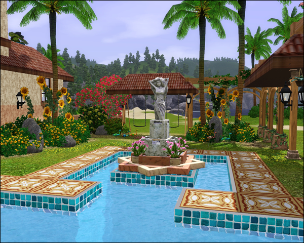 Ideas for sims 2 pools google search sims pinterest for Pool designs sims 4