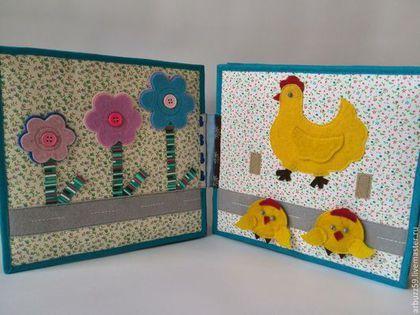"""Купить развивающая книжка из ткани и фетра для малышей """"би-би"""" - разноцветный, развивающая игрушка"""