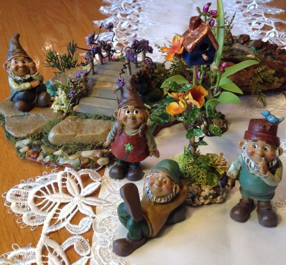 Bon Little Garden Gnomes In Need Of A Home Miniature Gnomes