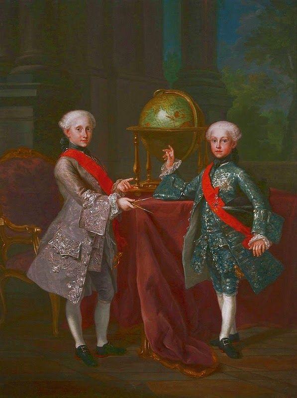 International Portrait Gallery: Retrato de los Infantes Carlos-Antonio y Gabriel d...