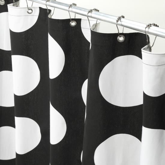 Black And White Polka Dot Shower Curtain Black And White Shower