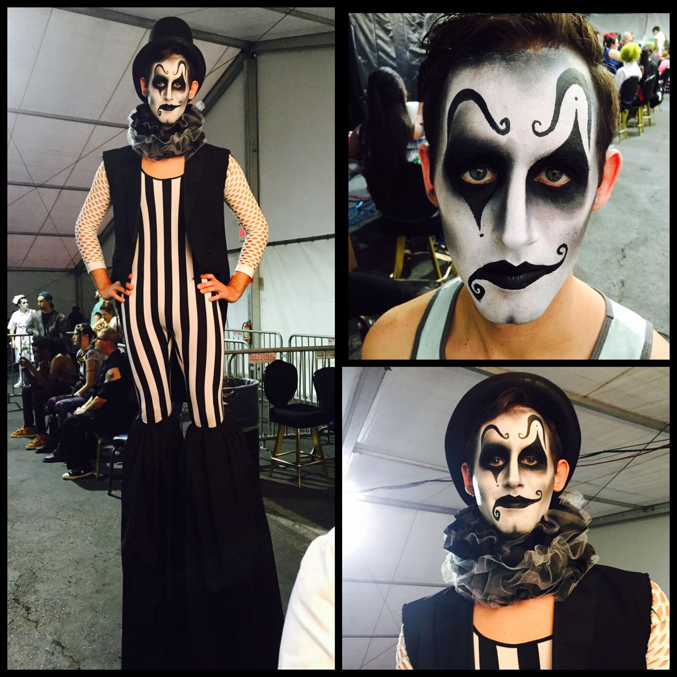 Dark carnival. MUA: Rebecca Morgan #clown #harlequin #creepy ...