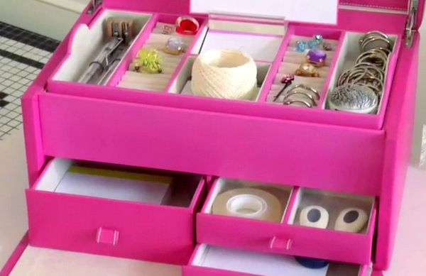jewelryboxforofficesuppliesariannabelleblog2 Home Storage