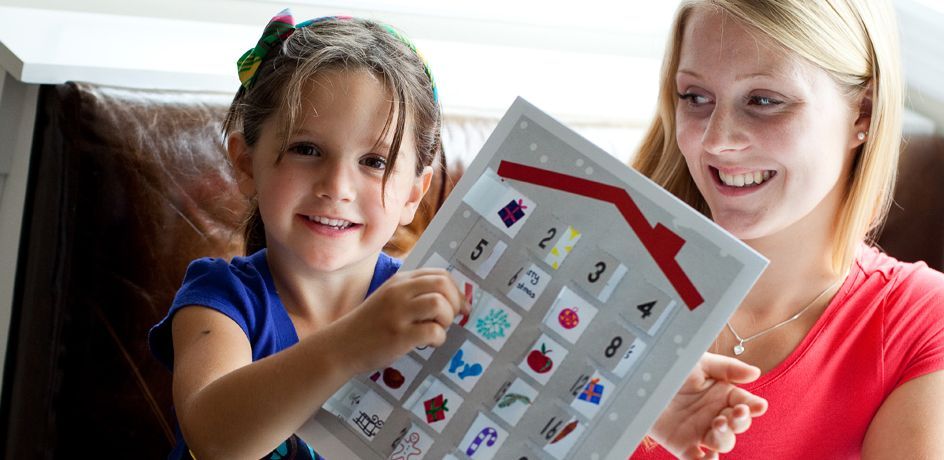 To make this craft with your kids, use the advent calendar