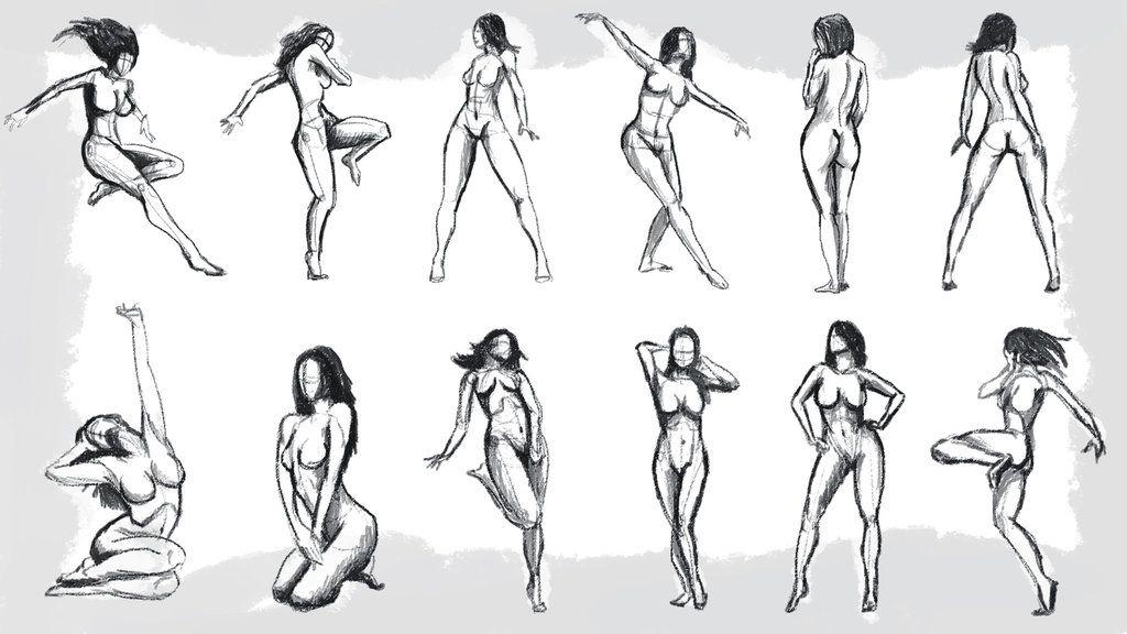 Свързано изображение | Gesture drawing examples | Figure