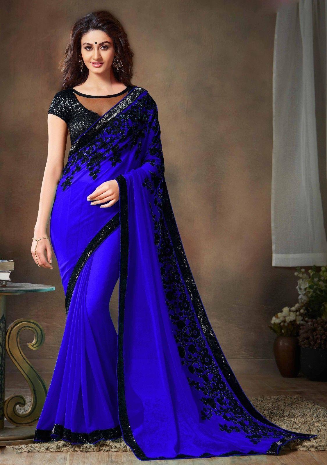 39707c1cfa7a8 Bollywood Indian Pakistani Ethnic Party Wear Saree Designer Sari with Blouse