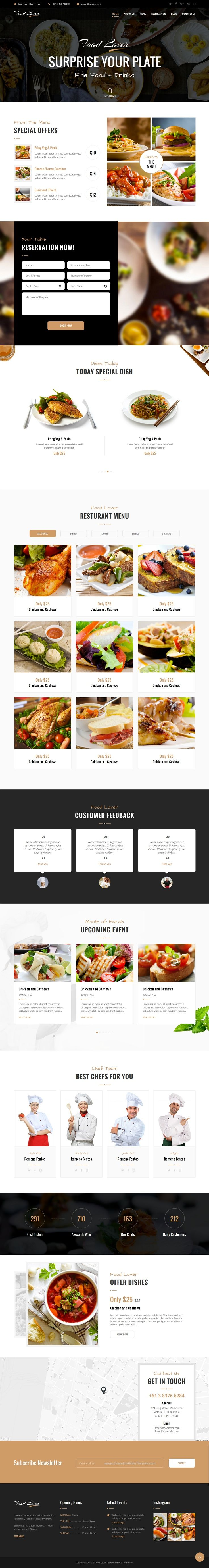 Food lover is modern and beautiful #Bootstrap template for ...