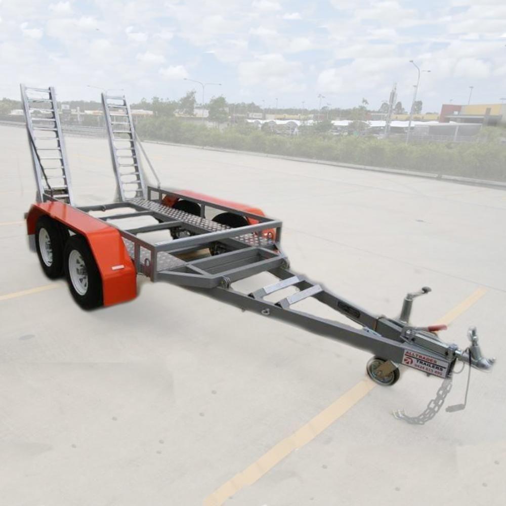 Alltrades All-Tow 2000E 2-Tonne Plant Trailer - 1.62t Capacity, Galvanised
