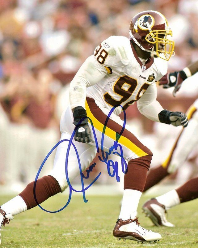 AAA Sports Memorabilia LLC - Jessie Armstead NFL Washington Redskins Hand  Signed 8x10 Photograph 22c8cc353