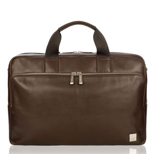 """Amesbury 15.6"""" Brown Leather Laptop Briefcase from KNOMO: Official Store 