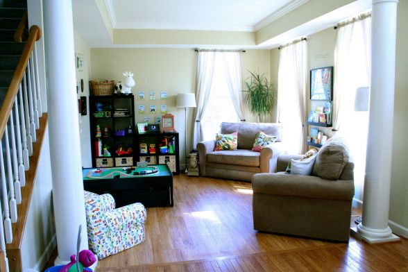 We Turned Our Seldom Used Formal Living Room Into A Playroom For Son