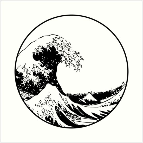 Photo of 'The Great Wave off Kanagawa' Art Print by kontorasuto