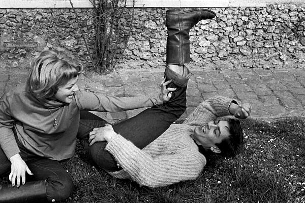 Alain Delon and Romy Schneider, 1959.