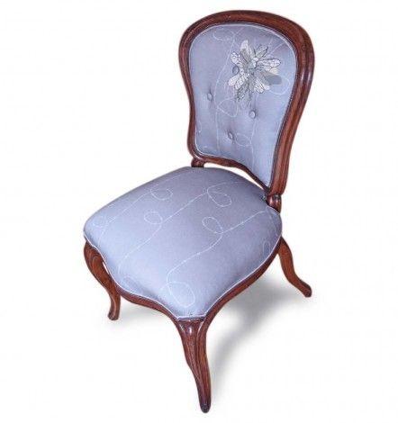 Mid-19th C. Barbed Moth Chair | Curiousa & Curiousa