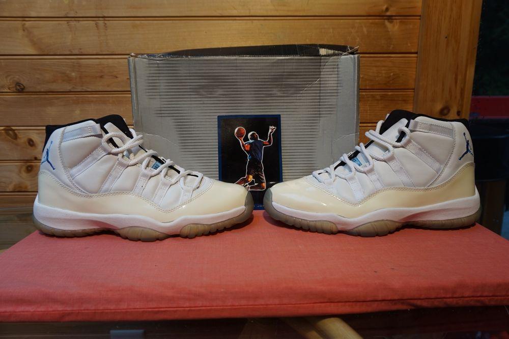 free shipping 65514 a7c57 2000 Nike Air Jordan 11 Retro White Columbia Blue Black Sz 9.5 (4883) 136046