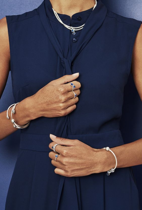 If you're not in full autumn mode yet, here's a style tip for a sophisticated Indian summer: our sapphire blue September birthstone rings, necklaces, bracelets and charms. Radiating peace and confidence, these sterling silver must-haves are all hand-finished. | ShopTJC.com | #shoplocal #milwaukee #ShopTJC