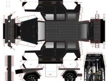 Printable Car Paper Models Jeep Free Paper Models Paper