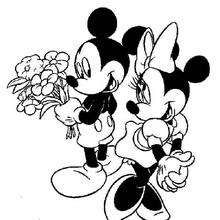 mickey and minnie wedding coloring