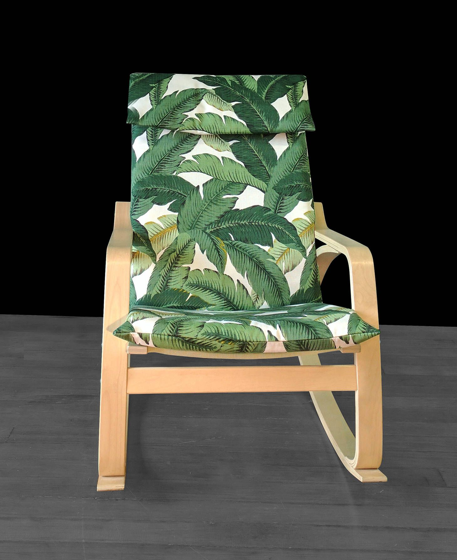 Tropical Leaf Ikea PoÄng Chair Covers Summer House Decor Tommy Bahama Indoor Outdoor