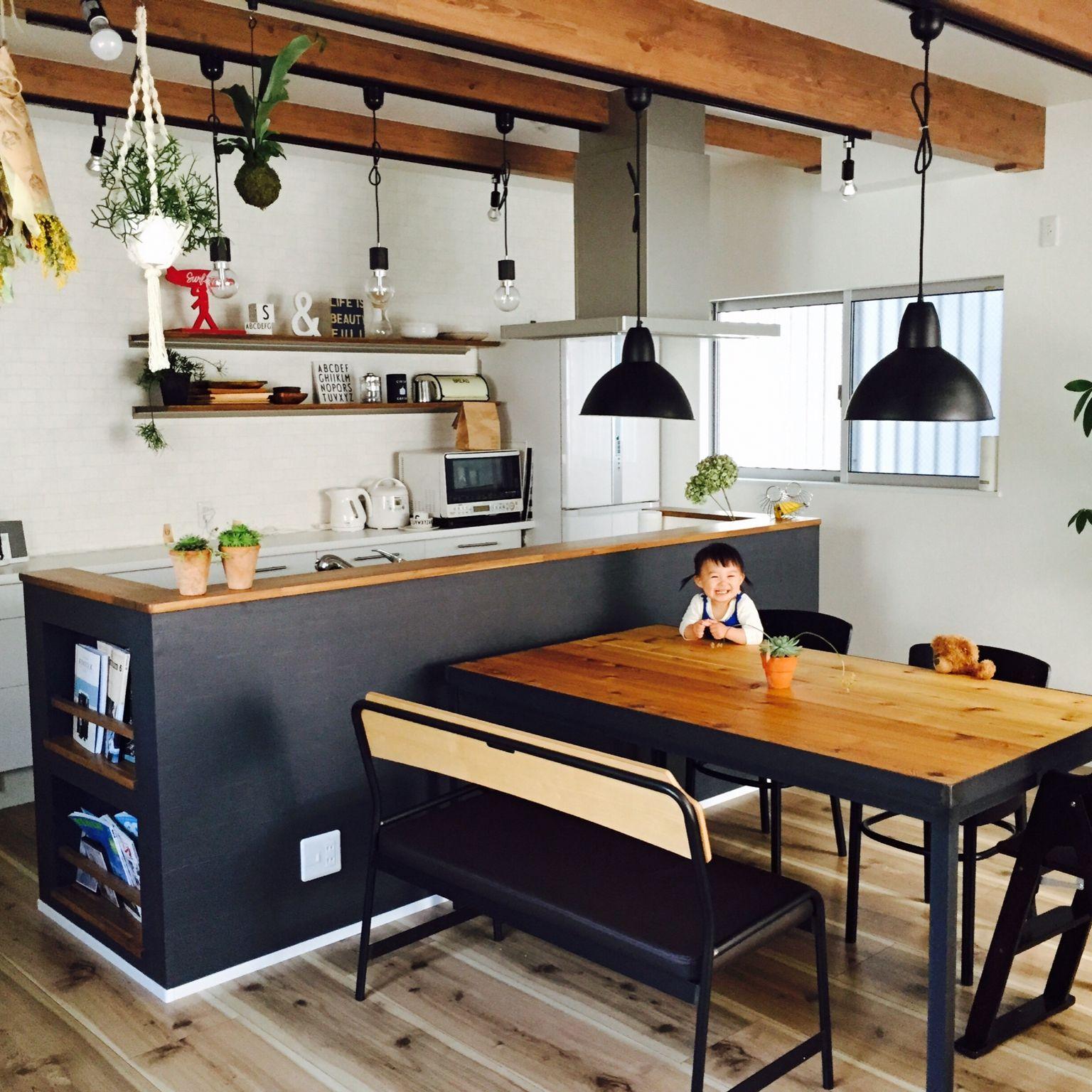 51 Small Kitchen Design Ideas That Make The Most Of A Tiny: キッチン/unico/多肉植物/雑貨/ドライフラワー...などのインテリア実例