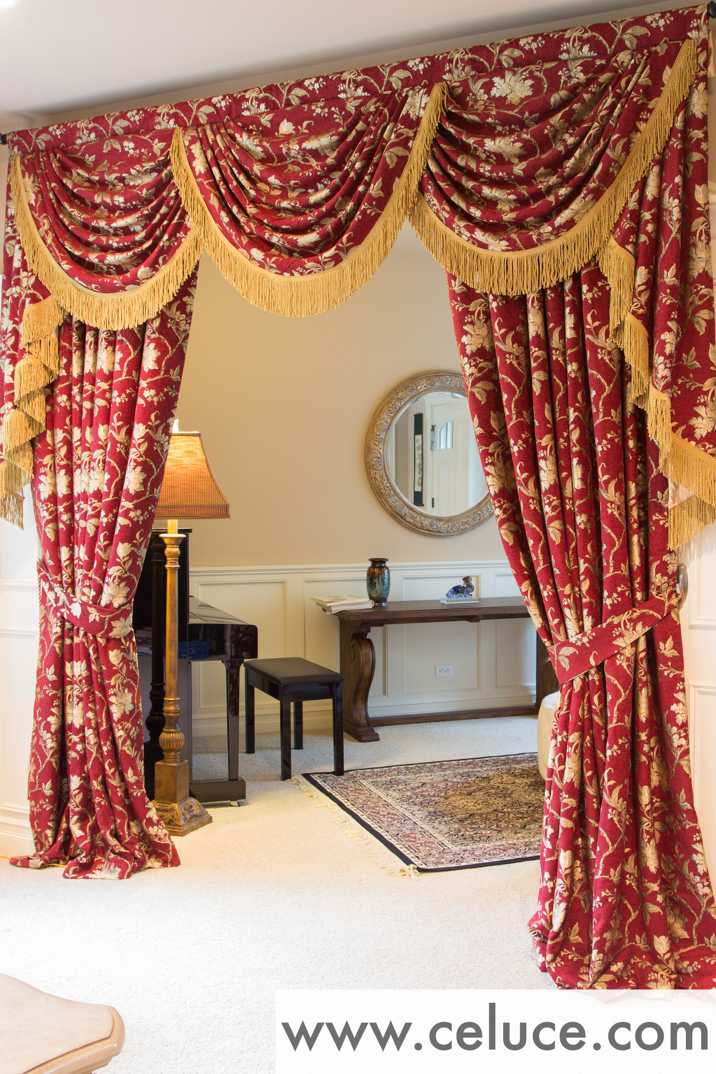 Www Celuce Com Customize Curtains Online Swag Valance Victorian Style Elegant Curtains Curtains Custom Curtains