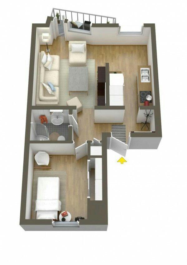 apartamento de 1 quarto plantasdeinterior arquitectura. Black Bedroom Furniture Sets. Home Design Ideas