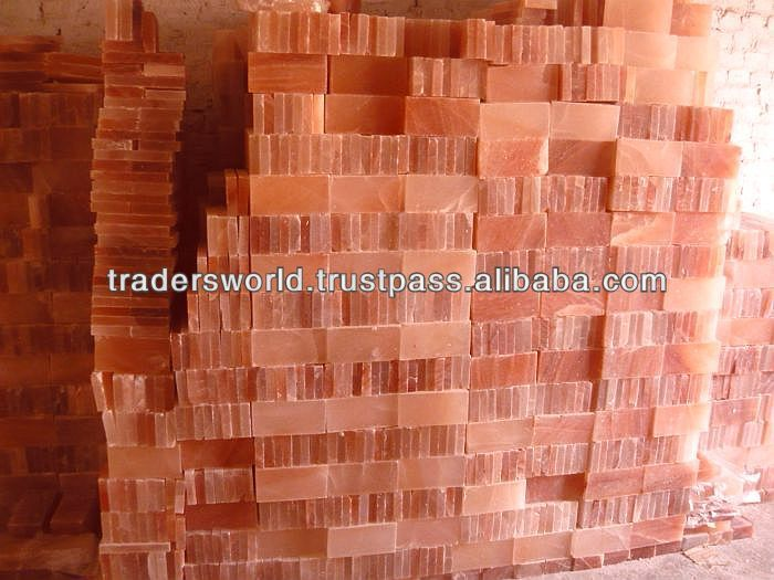 Wonderfull Color And Accurate Sizes Himalayan Rock Salt Bricks Tiles Blocks Slabs For Rooms Brick Wall