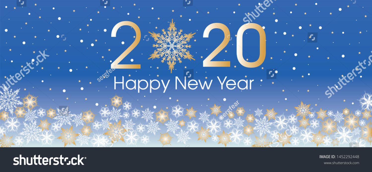 2020 Happy New Year Card Template Design Patern Snowflakes White Gold And Blue Color Ad In 2020 Happy New Year Cards Happy New Year Quotes Happy New Year Images