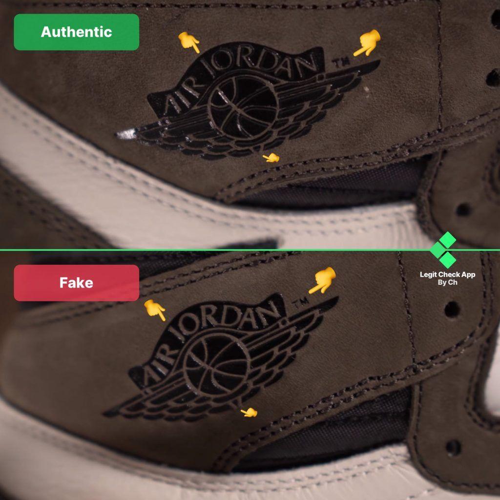 Step 4: Inspect the Air Jordan logo for misplaced details | Travis ...
