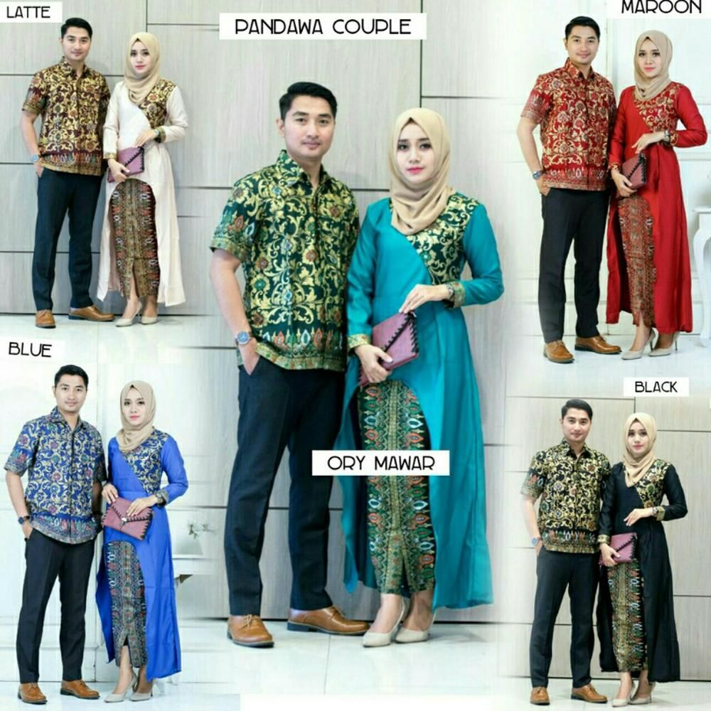 Model Baju Batik Couple Kombinasi Terbaru 30