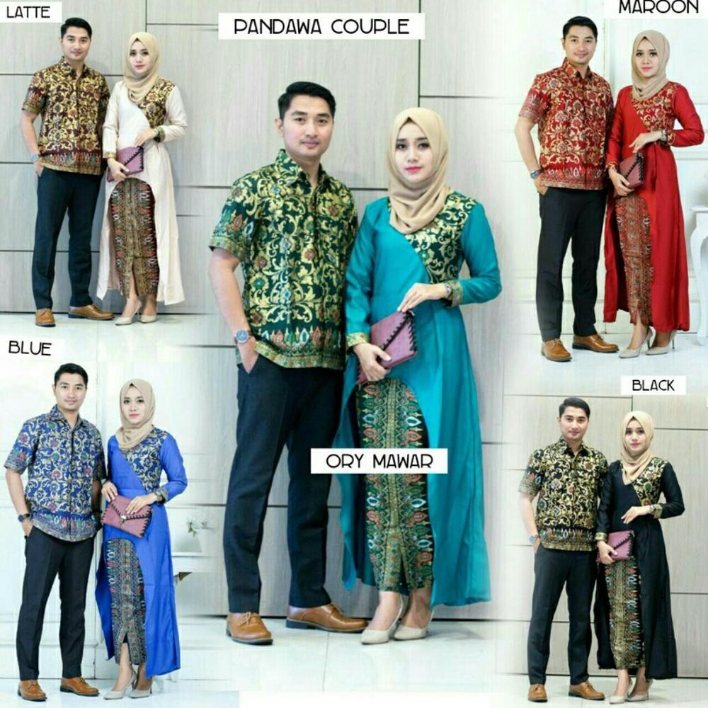 batik sarimbit pandawa couple terbaru kombinasi setelan model baju ... f19b2a5328