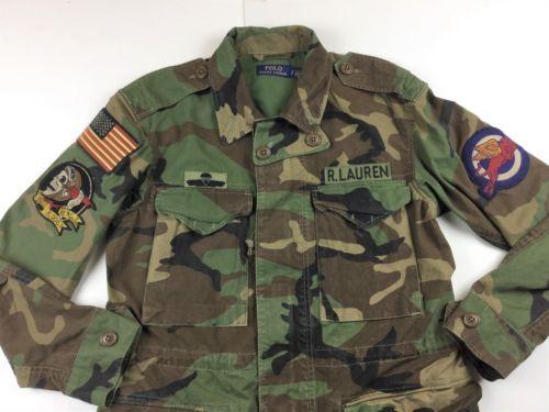 Polo-Ralph-Lauren-Women-Military-Army-Camo-American-USA-Flag-Skull-Field- Jacket 70700918454
