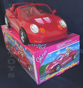 New Gloria Dollhouse Furniture Size Red Super Sport Car Play Set For