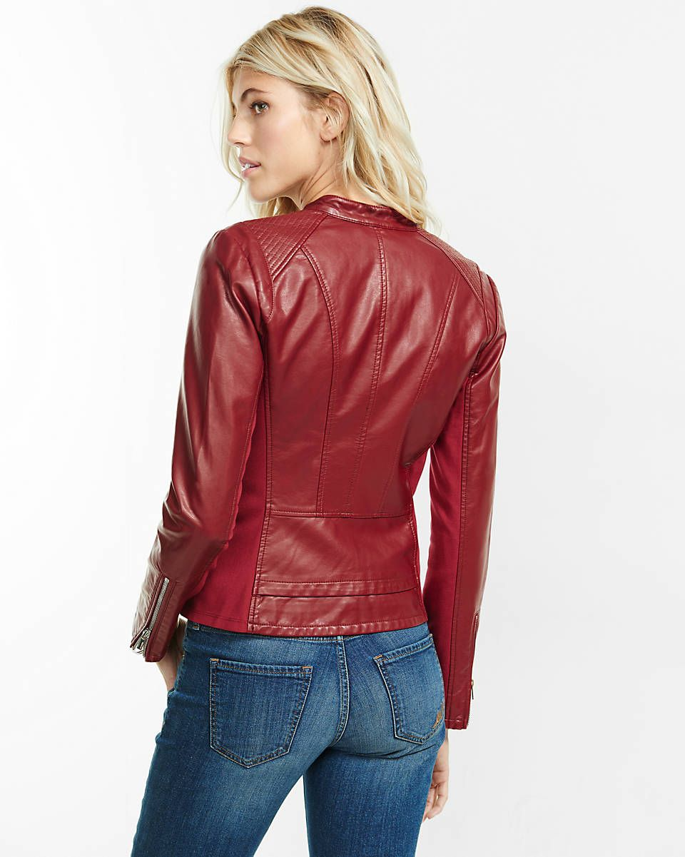 Red Double Peplum Minus The Leather Jacket Leather Jacket Jackets Fashion