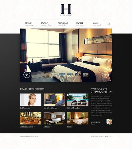 Template 43601 - Luxury Hotel Responsive Website Template with ...