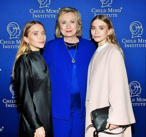 Image result for hillary clinton olsen twins