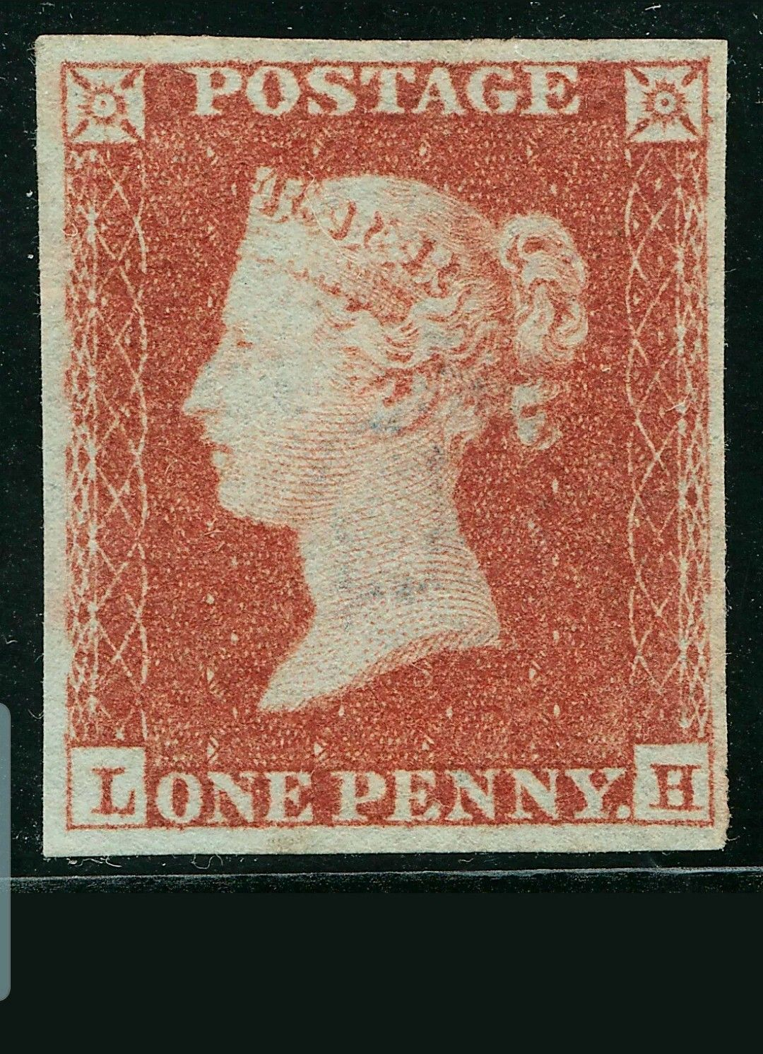 GB : 1853 penny red 1853 spec b2 plt 162 mint mng (With