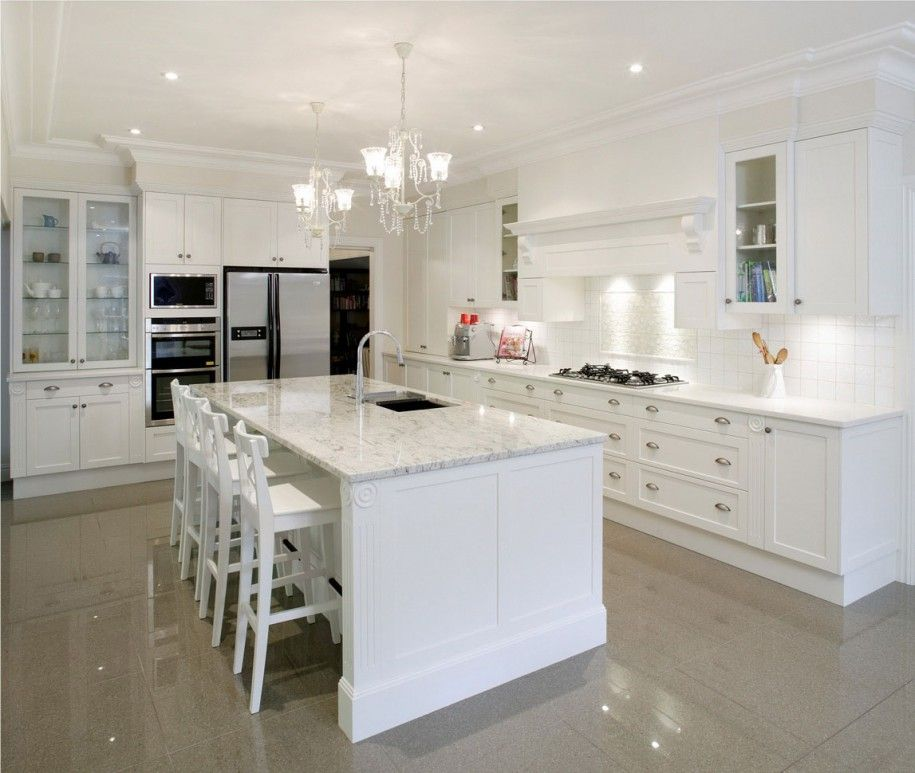 images about kitchens on   carrara marble kitchen,Amazing White Kitchens,Kitchen cabinets