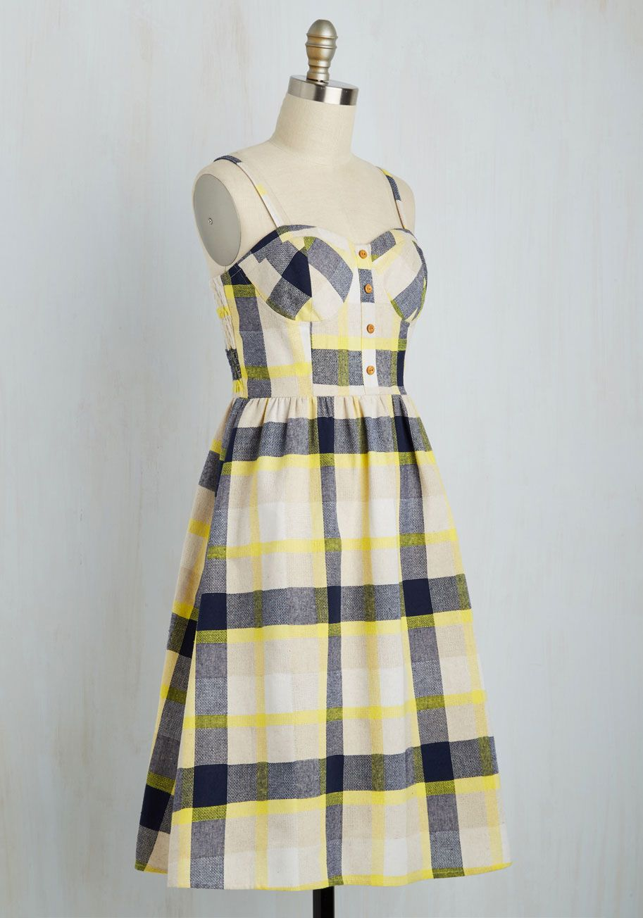273815d3eb Pastoral Panacea Dress. If you crave a quiet life on the countryside, this  plaid sundress is the fashionable first step. #multi #modcloth