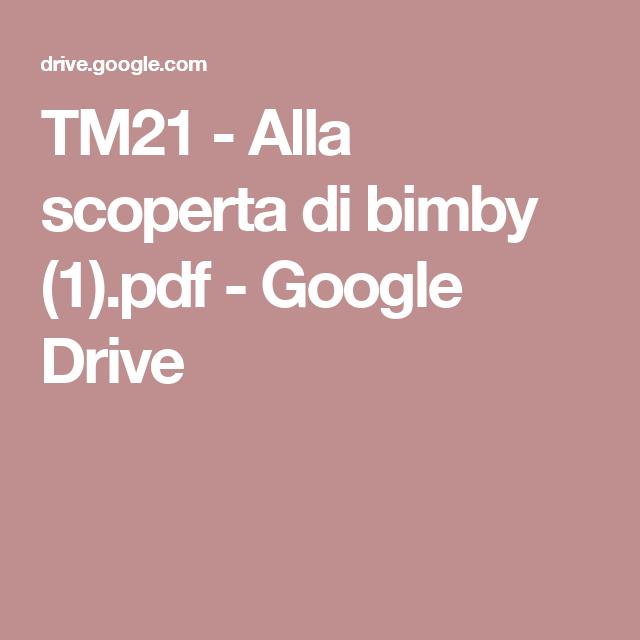 ricettario bimby tm21 da