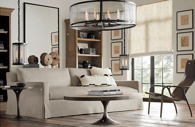 Restoration Hardware Living Room Traditional hardware living room