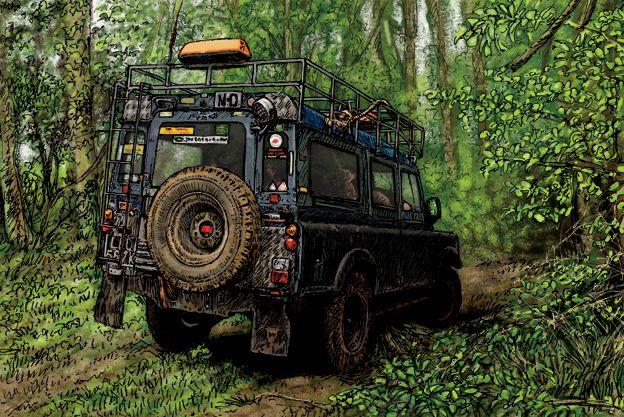 Land Rover lwb at Kelmarsh