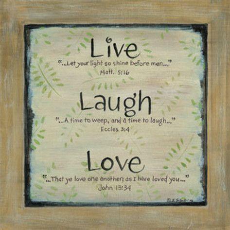 Live Laugh Love Prints by Karen Tribett at AllPosters.com