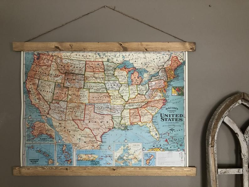 United States Map United States Of America Map Poster Etsy In 2020 Map Poster Travel Art Map Print