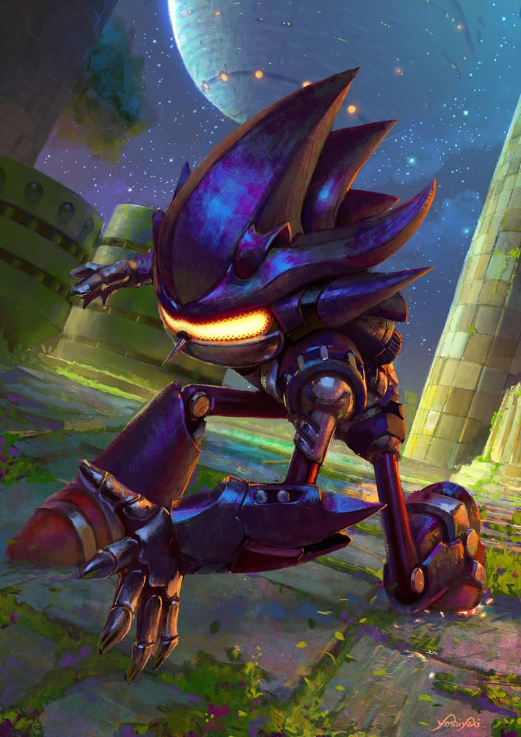 Mecha Sonic By Yoshiyaki Sonic The Hedgehog Sonic Fan Art Hedgehog Art Sonic The Hedgehog