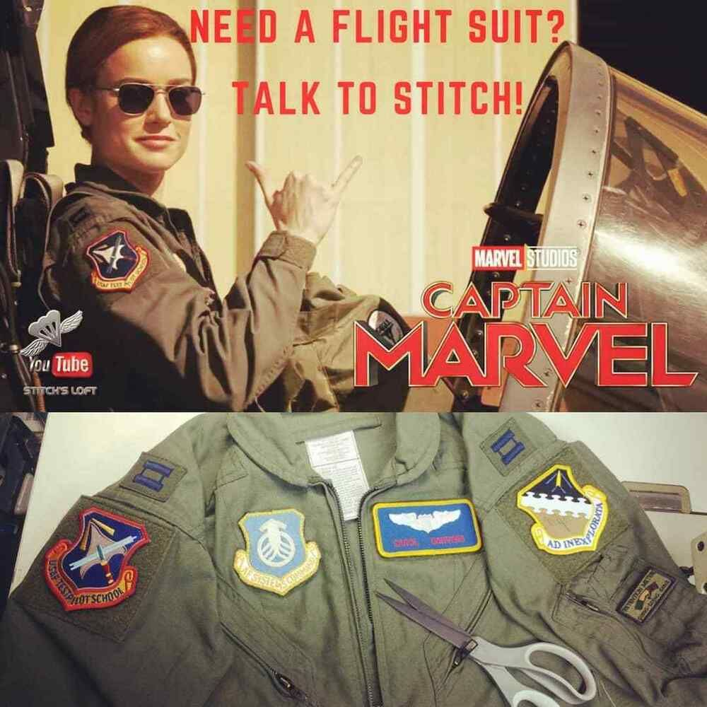 Captain Marvel Carol Danvers Or Maria Rambeau Flight Suit 7pc Patch Set Captain Marvel Costume Captain Marvel Carol Danvers Captain Marvel Air force fighter pilot and member of an elite kree military team called starforce, whose captain marvel is a believer in truth and justice but also fights between the aggressiveness and quick tempered character that is within her. pinterest
